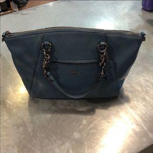 Coach blue prairie satchel